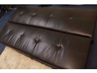 Black Sofa Bed, easy to lay flat, in great condition