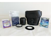 Panasonic DMW-LC55 Close Up Lens, DMW-LA5E Adapter, Two Hoya Filters, Cokin Adapter and Camera Case.
