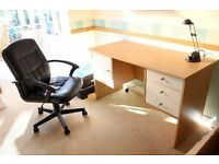 Office desk and chair (can sell separately)