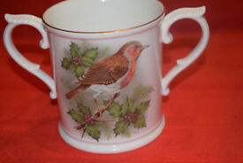 ROYAL WORCESTER ROBIN REDBREAST LOVING TANKARD SIGNED HAGUE