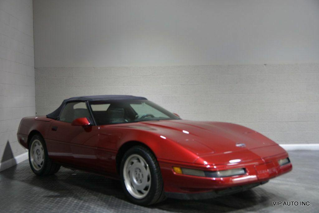 1992 Burgundy Chevrolet Corvette Convertible  | C4 Corvette Photo 1