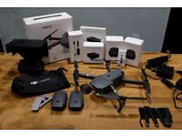 DJI Mavic Pro 4K Drone + Many Genuine Accessories (batteries, case, car charger, filters, etc).