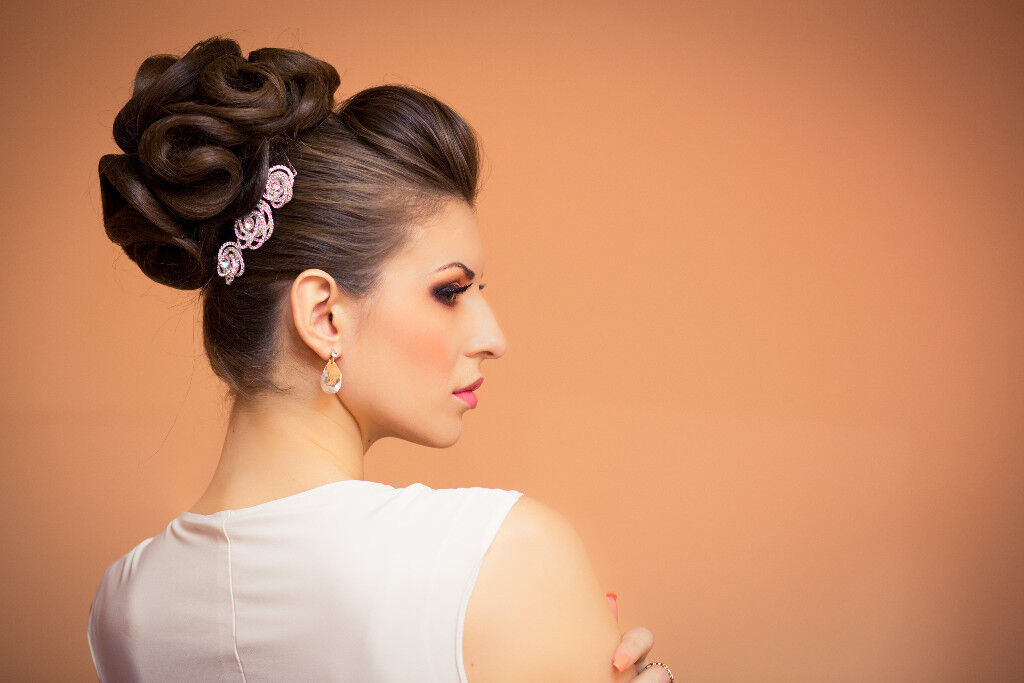 Bridal hairstyle, evening hairstyle, haircut, highlits