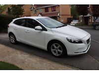 2013 VOVLVO V40 1.6 D2 WHITE WITH FULL HISTORY START/STOP £0 ROAD TAX