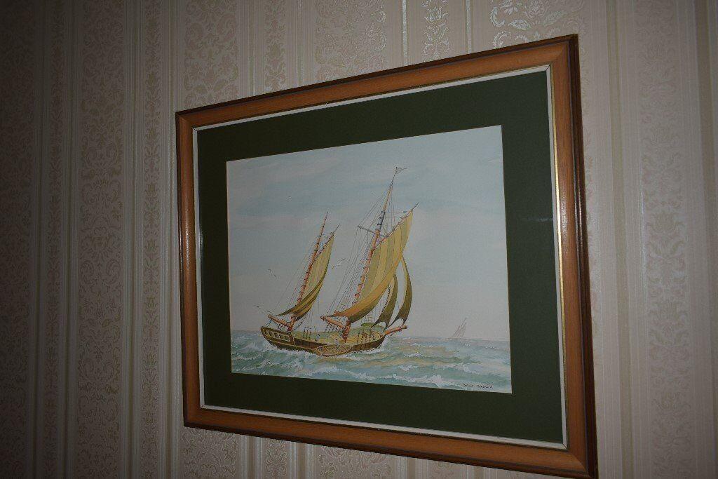 Pair of original framed beautiful watercolour/acrlic pictures