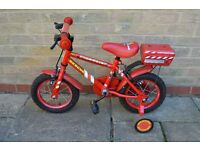 Halfords Apollo Firechief 12inch red bike - ideal for kids age 3-5