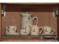 Vintage Royal Doulton Coppice pattern full coffee set 1930's art deco