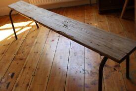 Scaffold board style school bench, solid wood, industrial, vintage, scandi