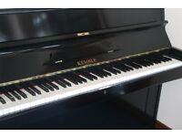 Kemble Upright Black Shiny Piano| Belfast Pianos
