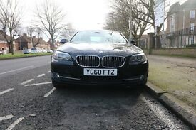 BMW 5 SERIES 2.0 520d SE 4dr AUTO Black with Cream Leather. Sat Nav service history Great Car
