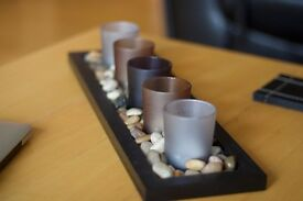 5 candle (tealight) holder - with lots of pebbles