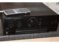 KENWOOD AMP 140W AUX IN PLAY IPOD PHONE CAN BE SEEN WORKING
