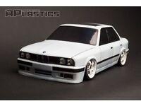 BMW E30 Lexan Clear Body Shell 1/10 Scale