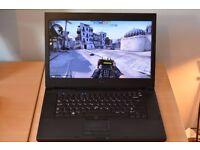 Dell Precision M4500 Gaming laptop i7 / 8GB / SSD / 750GB / FULL HD / Win 10