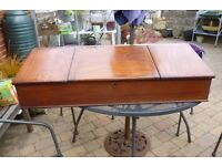 Antique writing slope desk box large