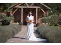 Beautiful lace wedding dress for sale