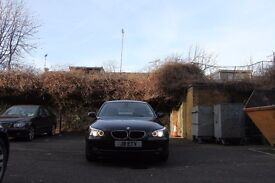 2007 BMW 520D Automatic 2.0L Black with Cream Leather, Fully Loaded with SAT NAV and Bluetooth