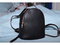 Faux Leather Black Backpack