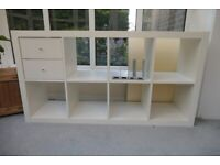Ikea Expedit (now Kallax) 2*4 shelves with 2 drawers