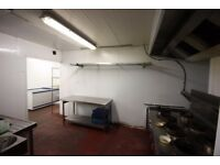 Spacious commercial kitchen with cold room and 27/7 access and all bills included!