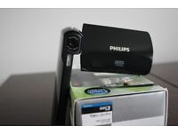 Philips ESee cam295 HD 1080p pocket camcorder in great condition (Black)