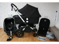 Black Bugaboo Cameleon Cam 3 pram full travel system with car seat 3 in 1 CAN POST