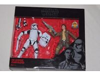 """Star Wars The Black Series POE DAMERON/FIRST ORDER RIOT CONTROL STORMTROOPER 6"""" figure twin pack NEW"""