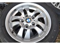 BMW 16 INCH WHEELS AND TYRES 205/50/16 CONTINENTAL TYRES