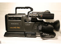 Sony CCD V6000E Hi 8 PRO Video Camera Recorder and Accessories.