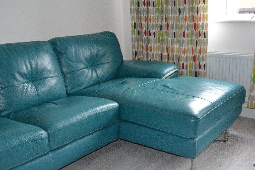 Teal Leather Sofa Lazzaro Leather Miami Sofa Reviews