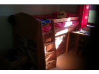 Kids Superb Single Bunk Bed with Matching Units.