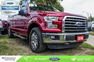 2016 Ford F-150 XLT|BACKUP CAM|CRUISE CTRL|V-6 |FORD CERTIFIED