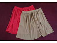 Two Tu Skirts Red and Coffee size 14,
