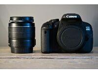 Canon 650d DSLR camera   18-55 lens + accessories