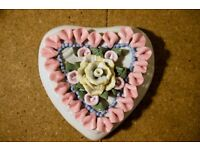 Wonderful VINTAGE porcelain heart - CHARITY SALE