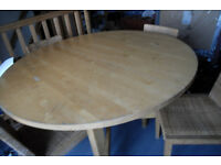 Extendable Dining Table and Chairs - Bargain £100