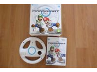 Excellent Wii + Boxed Mario Kart and Wheel