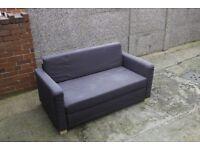 Sofa bed folding to floor