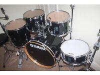 "Yamaha Rydeen Black 5 Piece Drum Kit (22"" Bass) - DRUMS ONLY"