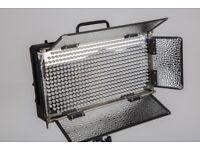 4 x 30W LED video light panels, daylight balanced, flicker-free