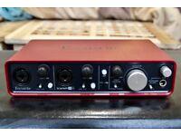 Focusrite Scarlett 2i4 USB Computer Audio Interface: very good condition
