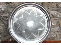 "Antique Mid-Victorian (Pre 1879) Silver Plate 14"" Serving Tray James Dixon & Son Wall Hanging Art"