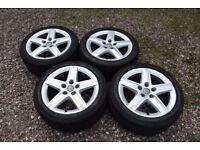 """Genuine 17"""" Audi A3 8P S Line SLine Alloy Wheels 225/45R17 Tyres 8P0601025D"""