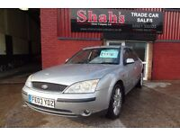 2003 FORD MONDEO 2.0 GHIA X 4 DOOR - TOP SPECS - LEATHER SEATS - NEW 12 MONTHS MOT