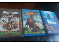 Kids DVDs x5 Open Season Finding Dory Book of Life Muppets Xmas Carol Tinkerbell