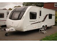 Swift Challenger 620 SE 2013 4 Berth Fixed Single Beds Twin Axle Caravan