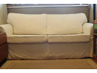 Sofa Bed white or brown covers