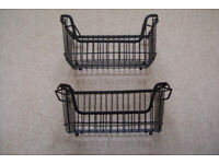 Stacking wire baskets - 2 pieces. sturdy. Brand new