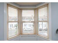 Ikea Venetian blinds 2 x Birch/light wood w60cm x h165cm used good condition