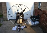 Paramotor set up Airconception 130 electric start,cluch,DUDEK Synthesis2 .9hours,size 26 ,reserve